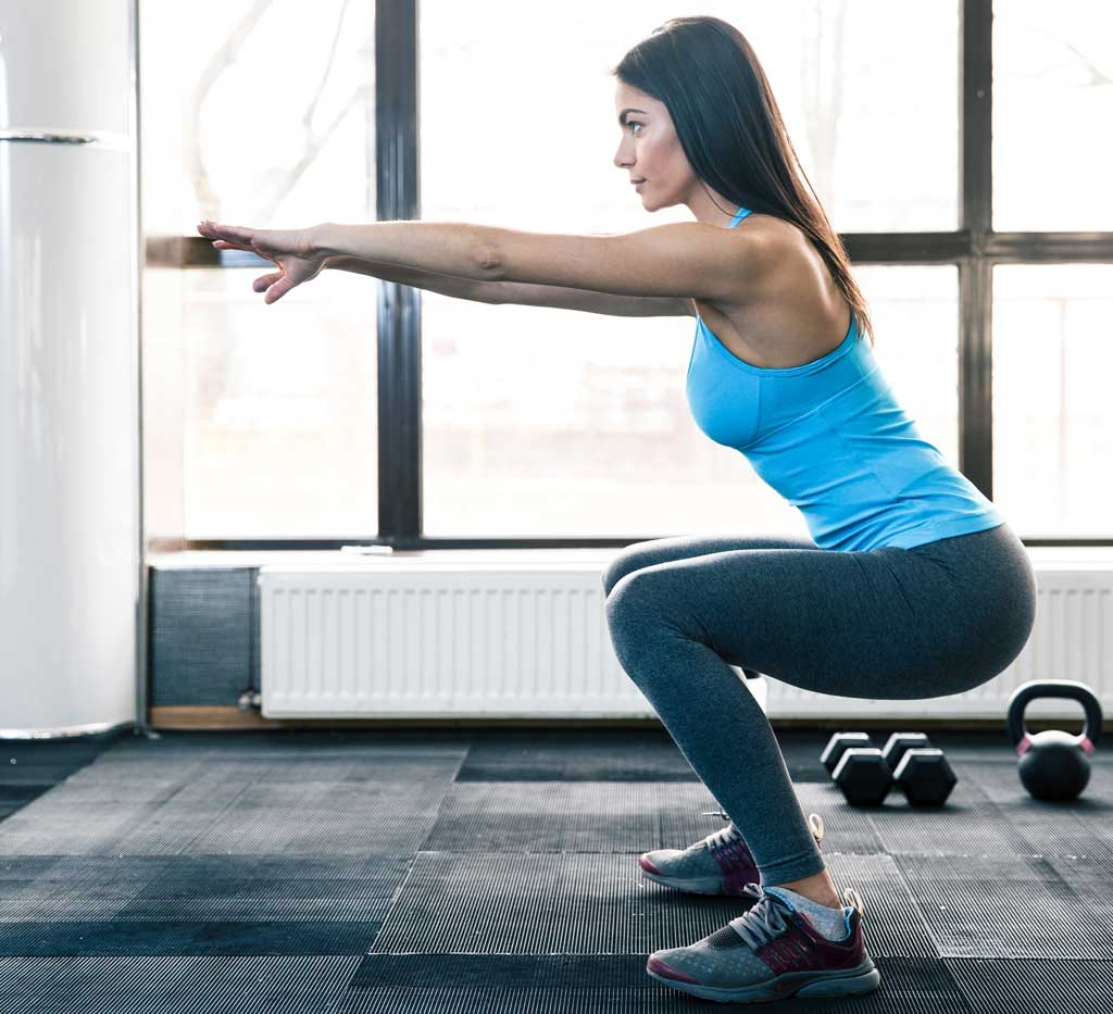 Proper squat form without weights